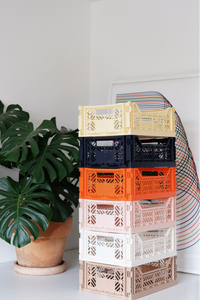 AYKASA Coloured Storage Crates - MINI - Black