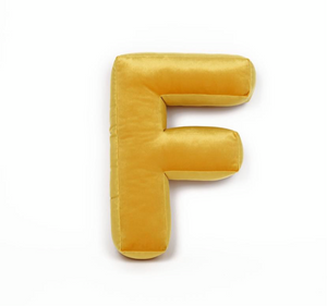 Velvet Letter F Cushion by Betty's Home - Click for colour options!