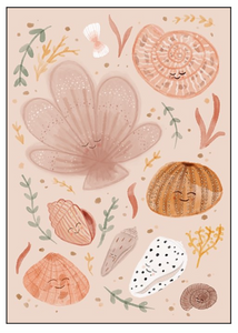 Shell Friends Print