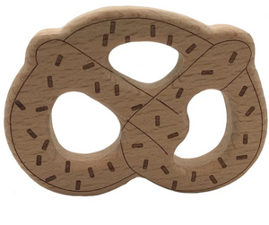 Wooden Baby Teether 'Pretzel' for 2 Pack