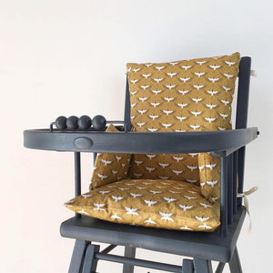 Handmade Cotton Coated Highchair Cushion 'Birds'