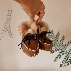 'Espen' Leather Wool Moccasins