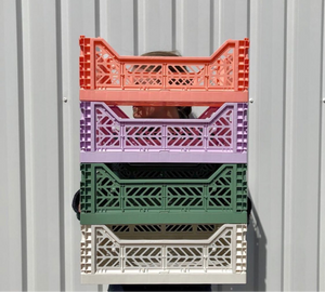 AYKASA Coloured Storage Crates - MIDI - Coconut Milk
