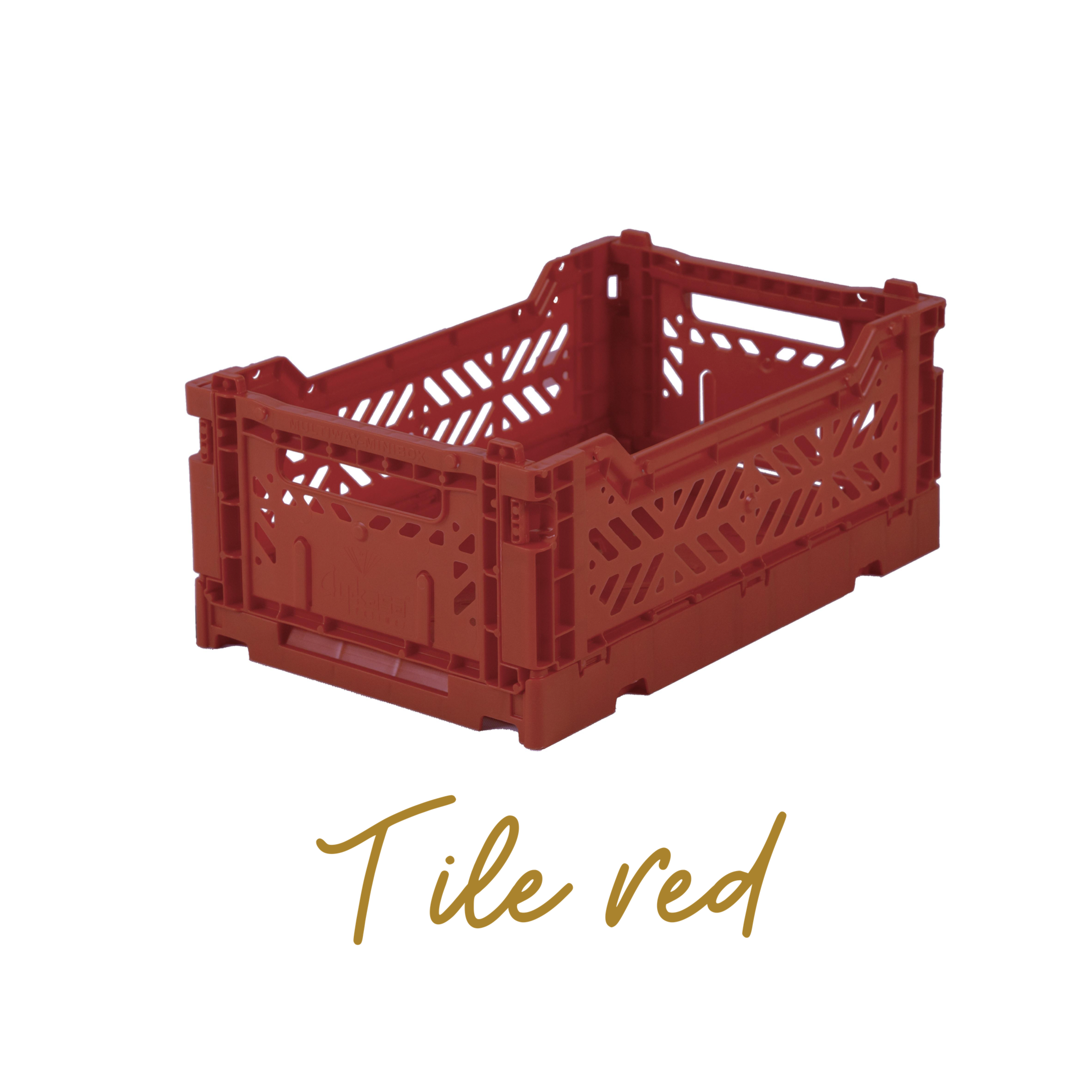 AYKASA Coloured Storage Crates - MINI - Tile Red