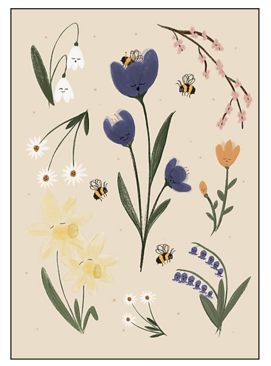 Calling To The Bees Print
