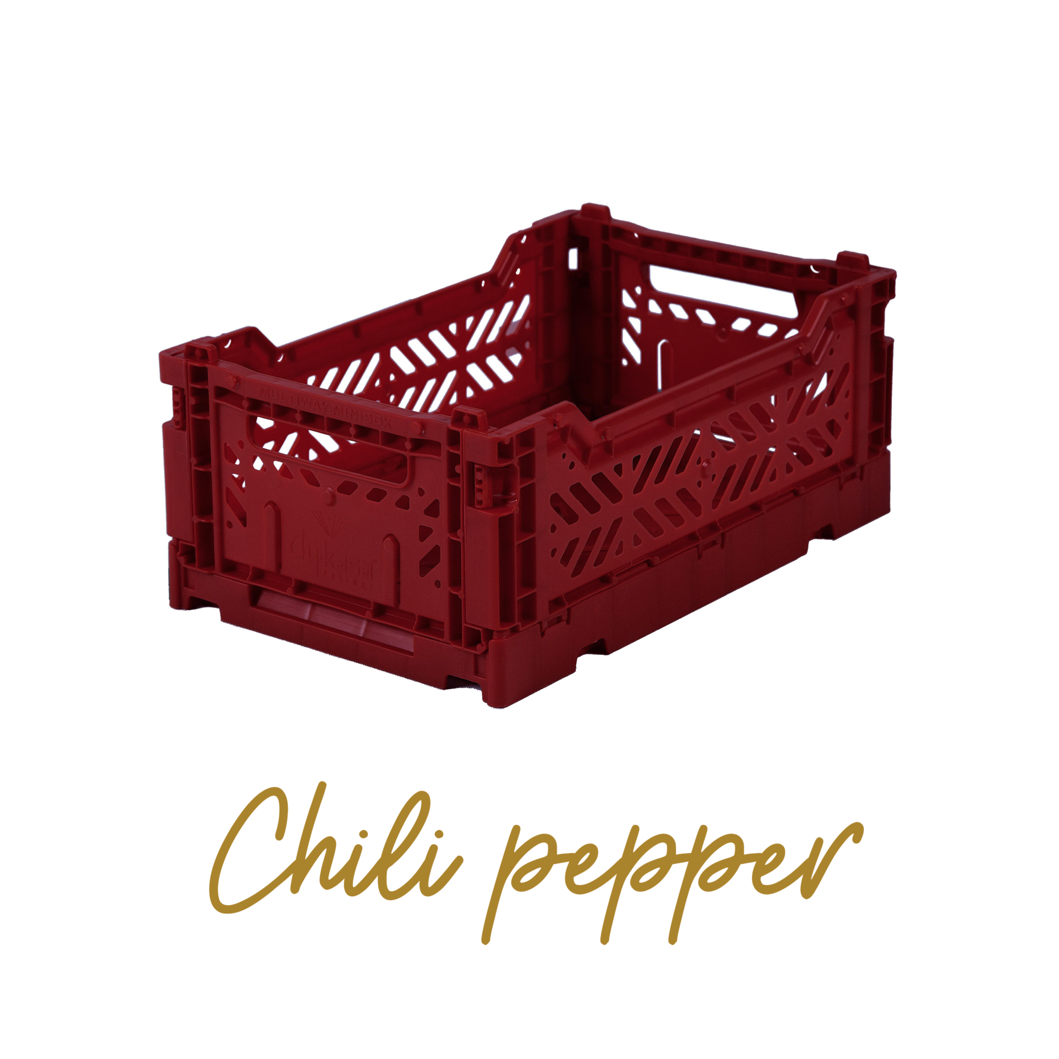AYKASA Coloured Storage Crates - MINI - Chili Pepper
