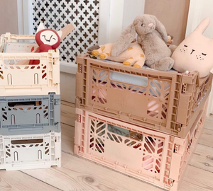 AYKASA Coloured Storage Crates - MIDI - Baby Blue