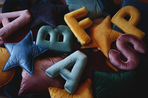 Velvet Letter X Cushion by Betty's Home - Click for colour options!