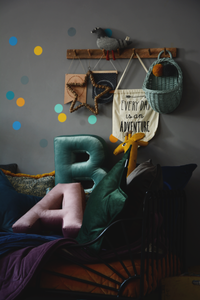 Velvet Letter A Cushion by Betty's Home - Click for colour options!