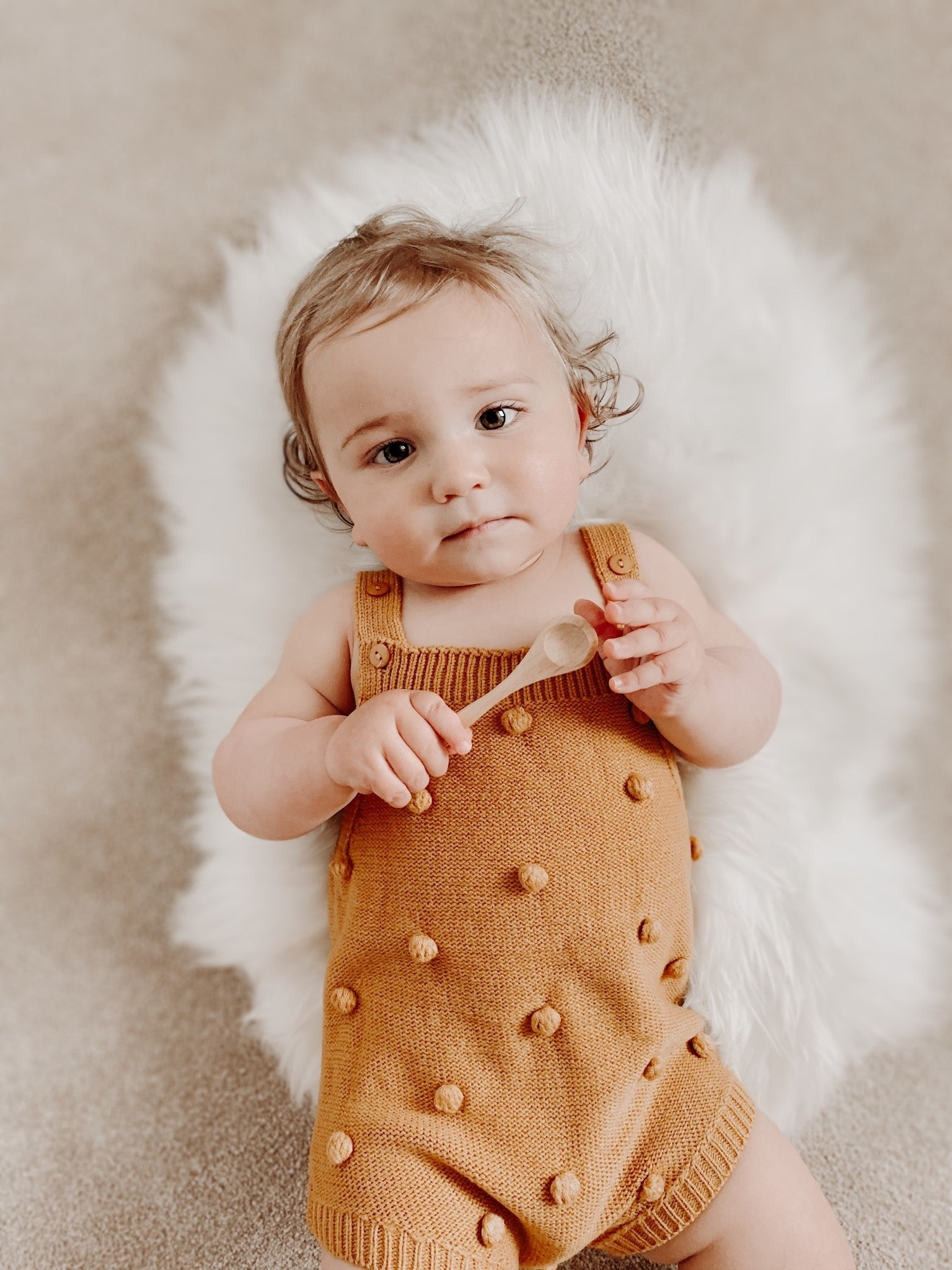 Avery Bobble Knit Romper Vest
