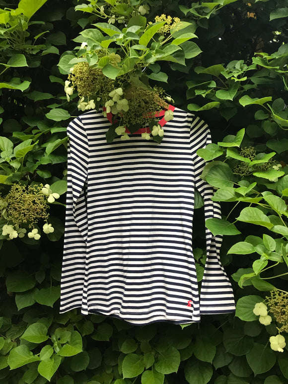 Selma blue and white stripe top