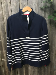 Navy and white stripe Saunton pullover