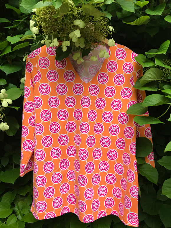 Medallion Pink & Orange Tunic