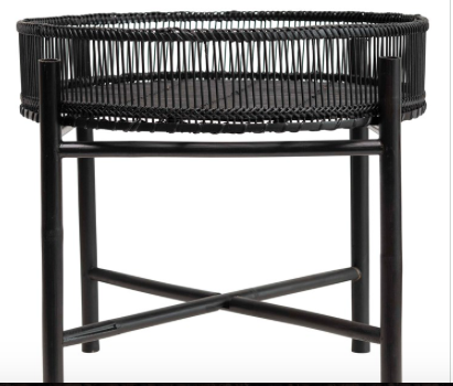 black bamboo tray table