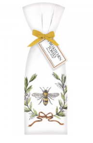 Bee with Wreath Kitchen Towels