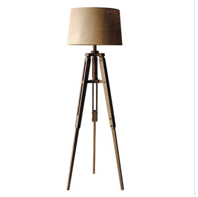 Mariner Wood Tripod Floor Lamp