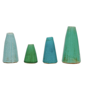 Contemporary Blue/Green Vases