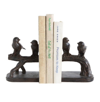 delightful bird bookends