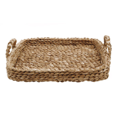 seagrass braided tray