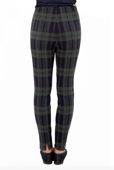 Green Plaid Gripeless Pants