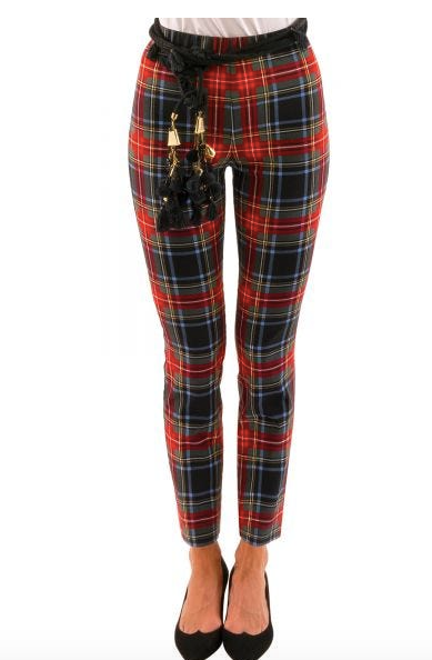 Red Plaid Gripeless Pants