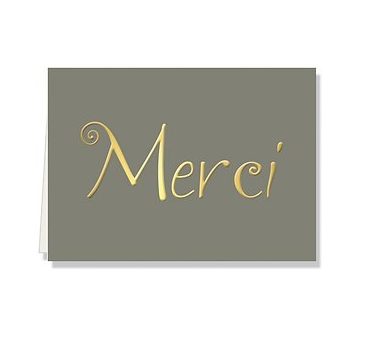 Merci Folded Notecard