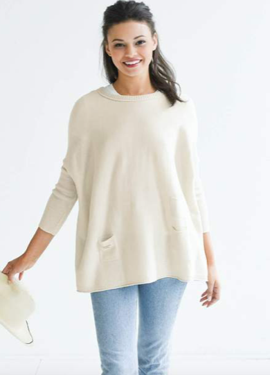 Open sides sweater