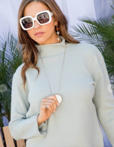 Mock Turtleneck Long Sleeve Sweater