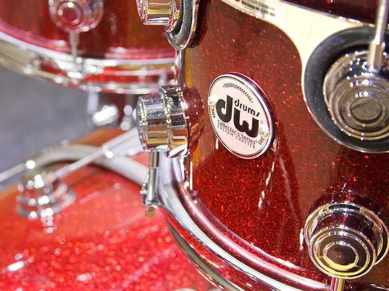 DW Collectors Ruby Glass Drum Kit