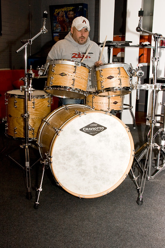 happy customer craviotto drum kit