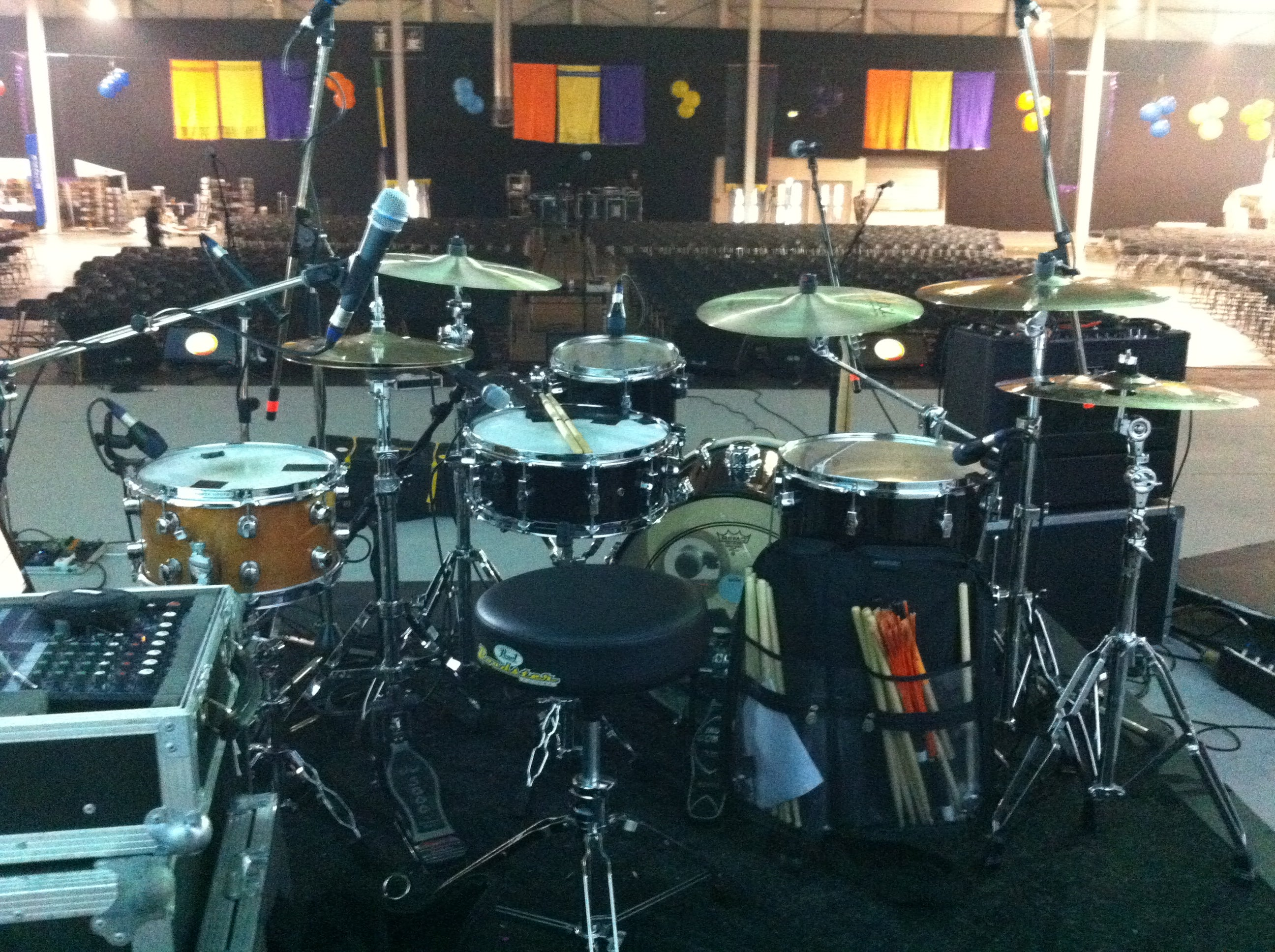 Catalyst Festival 2013 Drum kit