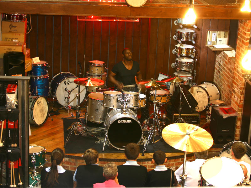 chris johnson at the drumshop uk