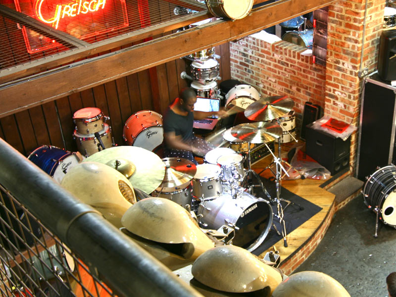 rihanna's drummer at the drumshop uk chris johnson