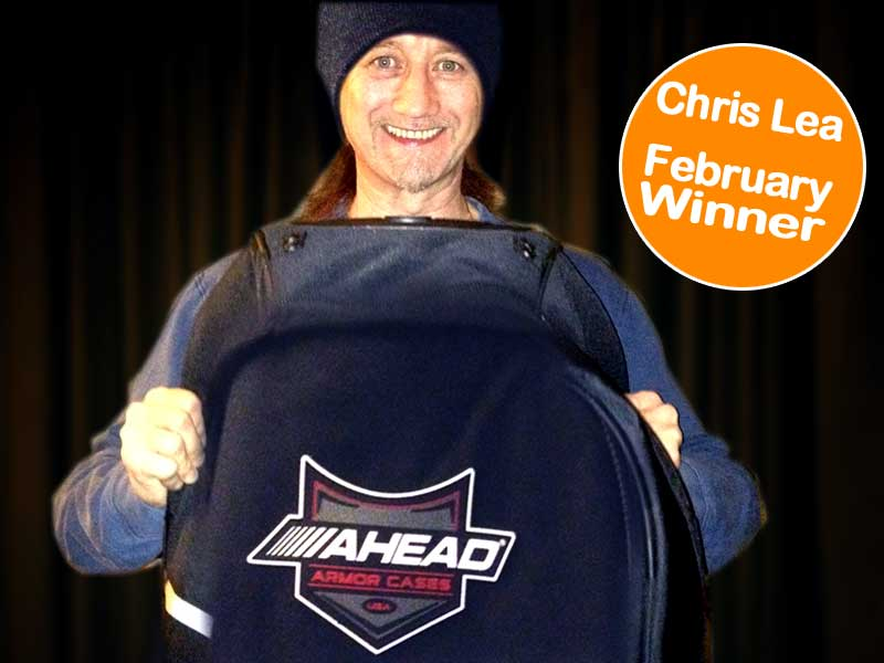 Drum Shop UK Febuary Winner Chris Lea
