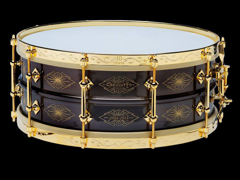Craviotto 10th Anniversary rare snare drum available from Drumshop