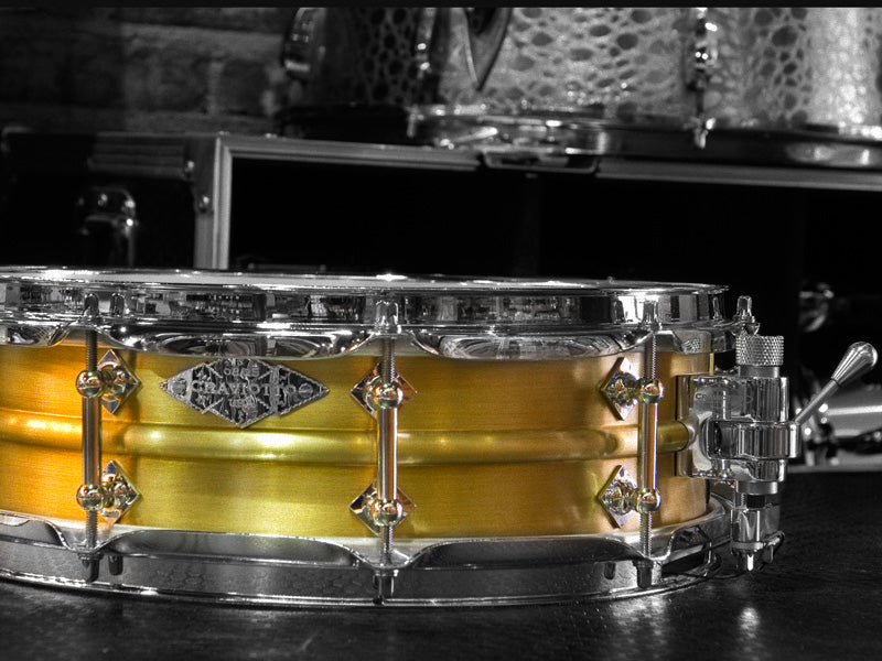 Craviotto Metal Brass 14x4.5 snare drum 1