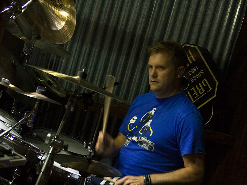 Craig Blundell with Premier and Paiste cymbals