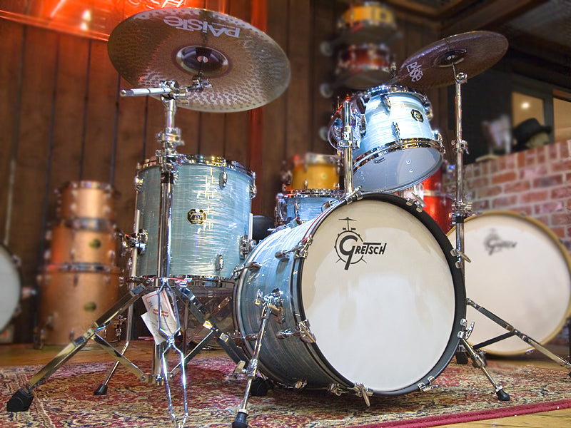 Gretsch USA Custom Vintage Oyster White at the drumshop uk