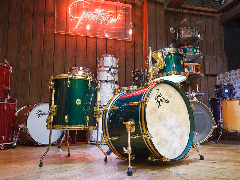 Gretsch 125th Anniversary Drum Kit in Cadillac Green