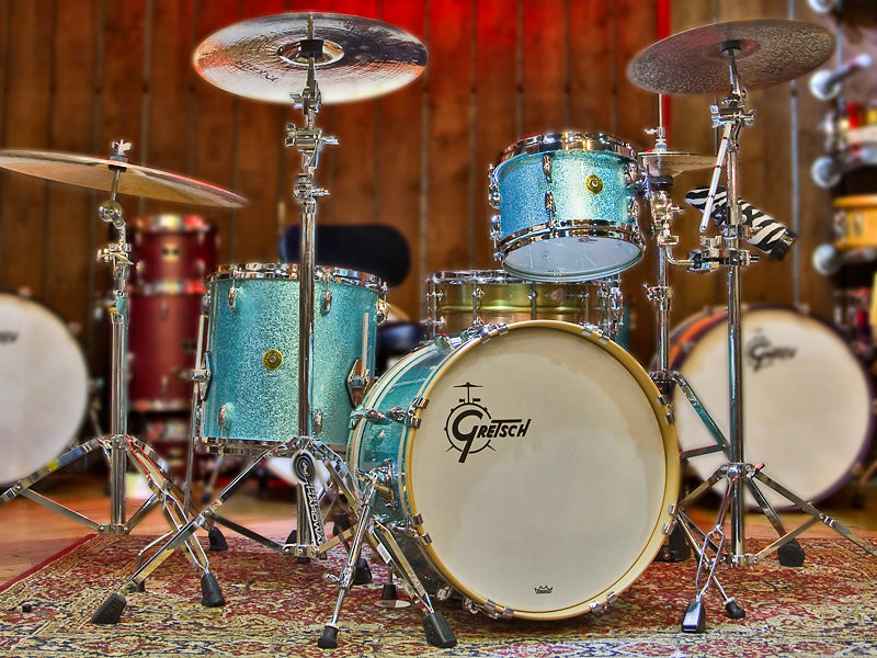 Gretsch USA Custom Micro-Bop Turquoise Sparkle drumshop uk