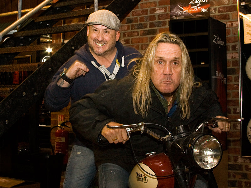 Nicko McBrain at Drumshop UK