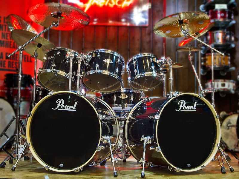 Pearl Black Beauty Drum Kit At Drumshop UK Double Bass