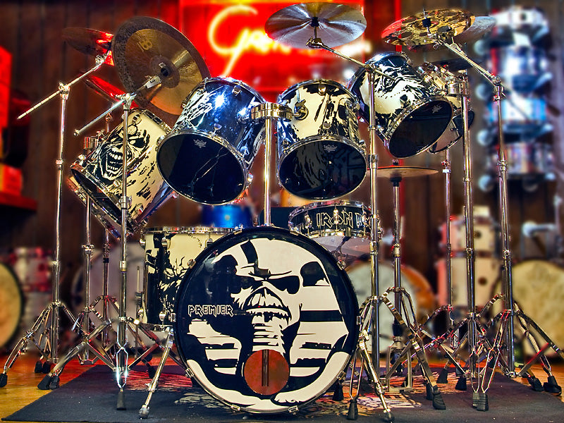 Nicko McBrain Drum Kit Iron Maiden Drum Kit Drumshop UK