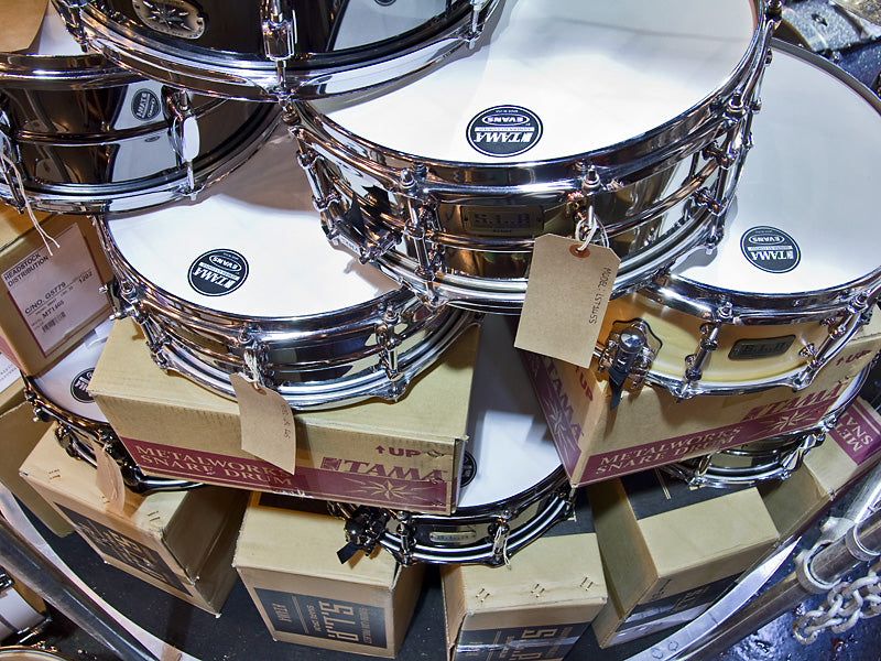 tama display at the drumshop uk