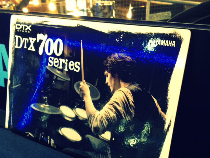 Yamaha DTX 700 series drum kit display