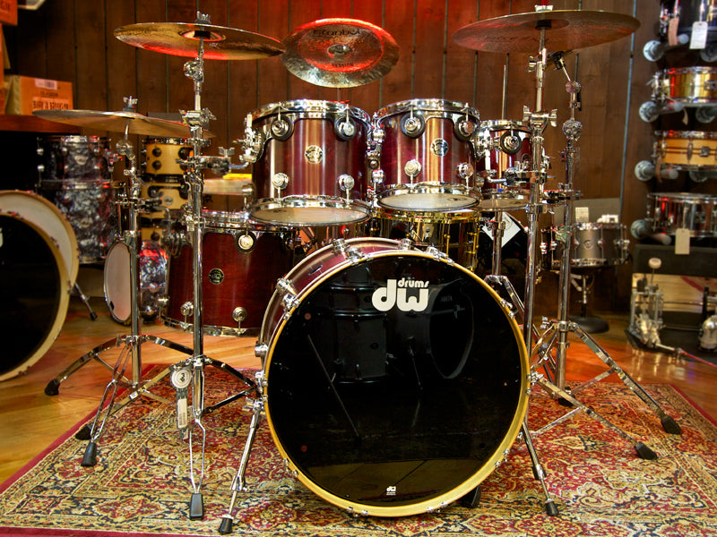 dw collectors in cherry stain drumshop uk