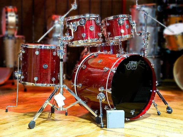 DW Cherry Red Performance drum kit