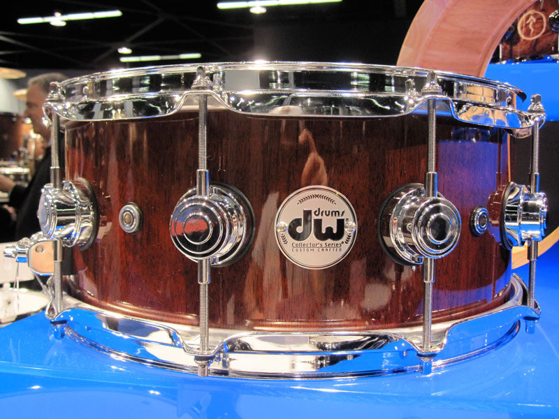 DW snare drums at NAMM 2010 Drumshop UK