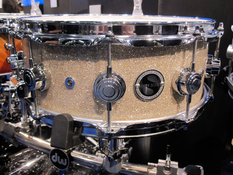 Drumshop UK DW Super Solid series Drum Workshop snare drum NAMM 2010