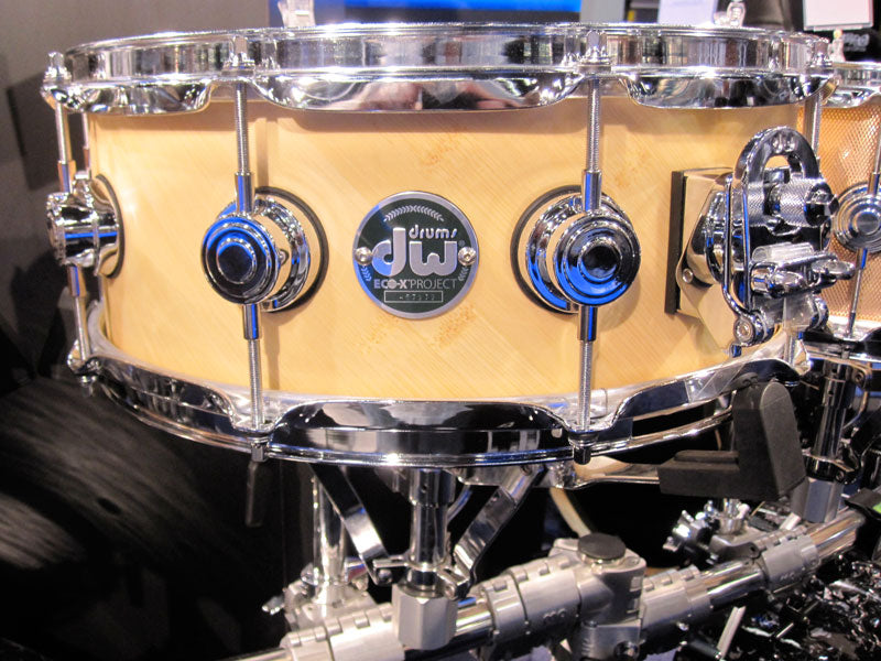 NAMM 2010 DW Eco-X Project snare drum Drumshop UK